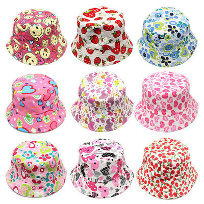 Toddler Baby Autumn Summer Canvas Fisherman Hat Girls Boys Cap Casual Cartoon