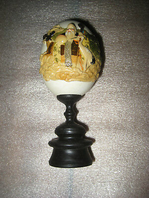 Antique Chinese Egg with Painted Decoration