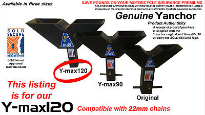 GENUINE Yanchor Y-max120 - MOTORCYCLE SECURITY GROUND ANCHOR - For 22mm Chains