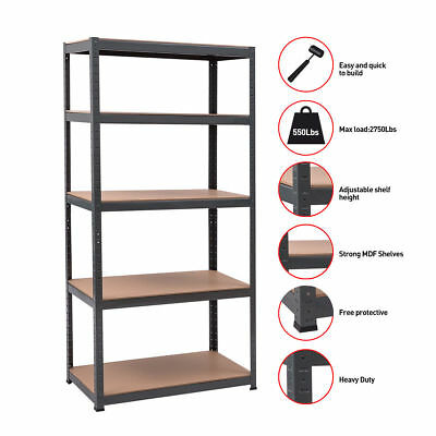 "Gymax 71""x36"" Heavy Duty Boltless Rivet Garage Storage Shelving Rack 36""x18""x71"