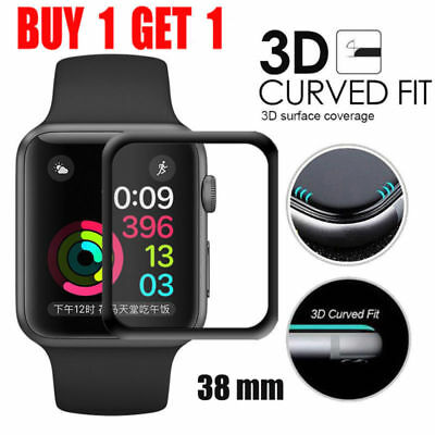 2PCS 3D Tempered Glass Screen Protector Film For Apple Watch iWatch 1 2 3 38mm