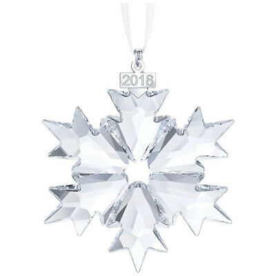 New 2018 Swarovski Crystal Snowflake ANNUAL EDITION LARGE CHRISTMAS ORNAMENT X1