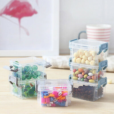 Fashion Plastic Storage Box Jewelry Bead Craft Container Organizer Case 6A