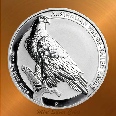 2017 WEDGE TAIL EAGLE ... 1 oz 9999 Silver Coin ... RARE:62,656 Mintage ... #2