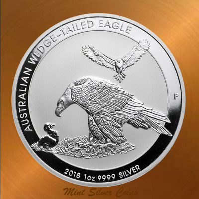 2018 WEDGE TAIL EAGLE ... 1 oz 9999 Silver Coin ... RARE: 50,000 Mintage ... #5