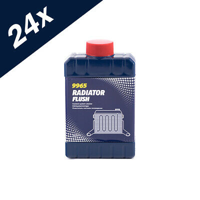 9965 MANNOL 24x 325ml RADIATOR FLUSH CLEANS UNBLOCKS CAR RAD COOLING SYSTEM