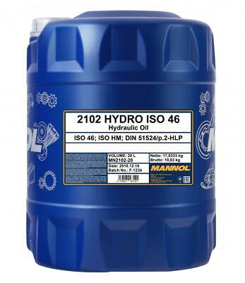 ISO 46 Hydraulic Fluid Oil 20 Litre Drum - German Hi Spec DIN 51524