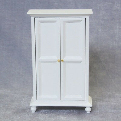 1/12 Dollhouse Miniature Furniture Wooden Cabinet Wardrobe Bedroom Decor