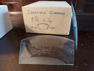 Shaped convex clock glass spare parts unused (1)