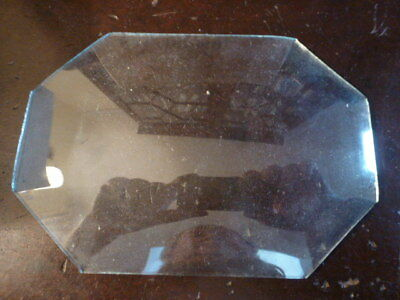 Shaped convex clock glass spare parts unused (2)