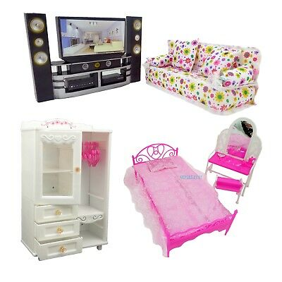 Cloth Sofa TV Hifi Dressing Table Plastic Bed Wardrobe Furniture For 12 in. Doll
