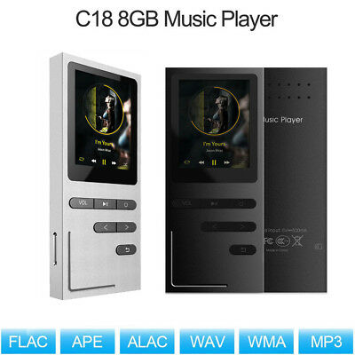 C18 Lossless Metal Music Player 8GB HiFi APE MP3 MP4 FM Radio With TF Card G0M6