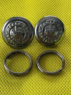 NSW Police Buttons X 2 With Fastening Rings. Obsolete. LIKE NEW. Collectable.