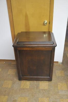 Antique Singer Enclosed Library Treadle Sewing Machine Cabinet