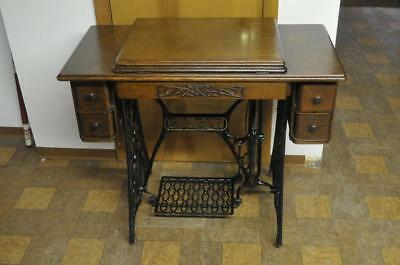 Antique Singer 5 Drawer Treadle Sewing Machine Cabinet Oak Cabinet only