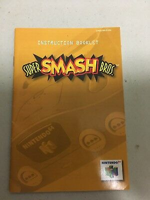 Super Smash Bros N64 Manual Only Fast Free Shipping