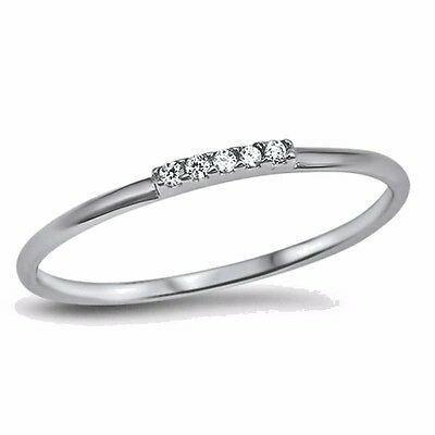 USA SELLER TINY CZ Ring Sterling Silver 925 Best Price Jewelry Selectable  Clear