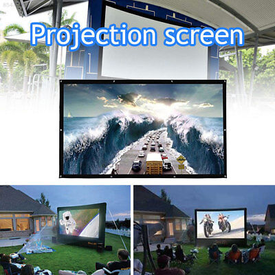 E222 Foldable Courtyards Durable Projection Curtain Home Theater 120 Inches 4:3
