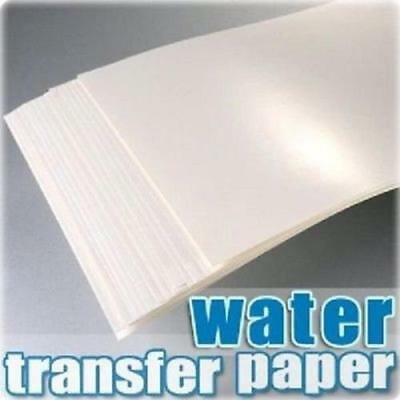 5PACKS A4 LASER WATER SLIDE DECAL PAPER Waterslide transfer Paper