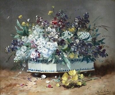 HENRI CAUCHOIS (1850-1911) SIGNED FRENCH IMPRESSIONIST OIL to £28,000 FLOWERS
