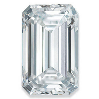 1.01CT Forever One Taille Émeraude Moissanite Détachée Pierre Charles And
