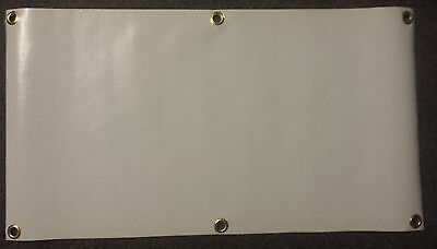 2' x 4'  BLANK VINYL BANNER  13 oz WHITE WITH GROMMETS PACK of 5 FREE S/H