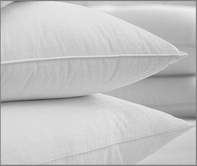Luxury Pair Of Microfibre Silky Soft Down Like Gel Extra Support Firm Bed Pillow