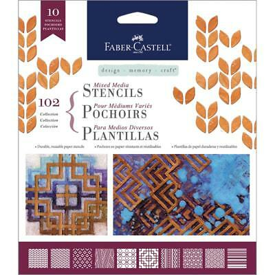 Faber-Castell Mixed Media Stencils 102 Collection-092633304556