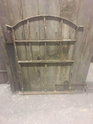 Vintage Arched Window frame steel/iron/industrial