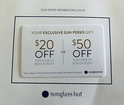 sunglass hut coupon 20 off 100 or 50 off 200 or more