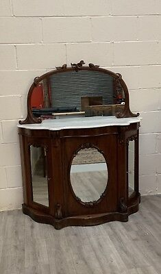 Antique Victorian Chiffoner Sideboard Cupboard Mirrors Delivery Available