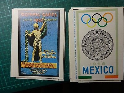 OLYMPIC GAMES Big Collection Unused Colour Postcards