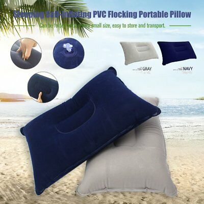 Soft Inflatable Travel Pillow Air Cushion Neck Rest For Flight Car Plane 1W