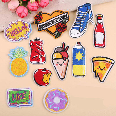 Embroidered Iron On/Sew On Clothes Applique Patches Motif Transfer INS DIY Craft