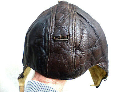 Serre tête cuir de pilote Luftwaffe FK 33 leather flying helmet