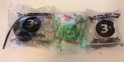 3 PCS 1996 Star Wars Taco Bell Happy Meal Toys *sealed* Yoda R2-D2 Princess Leia