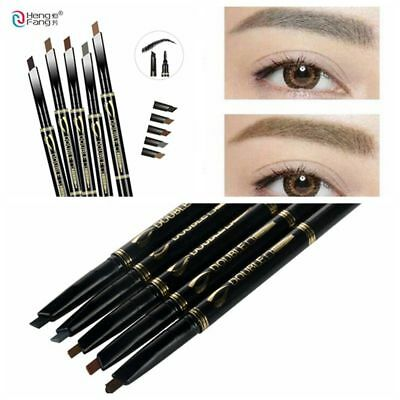 Makeup Beauty Brow Tint Eyebrow Pencil Double Head with Brush Automatic Rotate