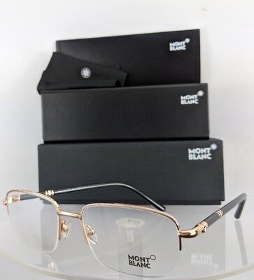 bf2c4e353a New Authentic MONT Blanc Eyeglasses MB 528 028 Black   Gold Frame 56mm 0528