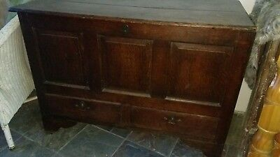Antique Vintage Oak Panelled Chest