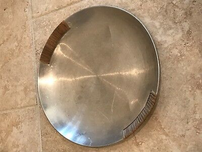 RUSSEL WRIGHT SPUN ALUMINUM SERVING TRAY SMALL but I have a LARGE for sale too