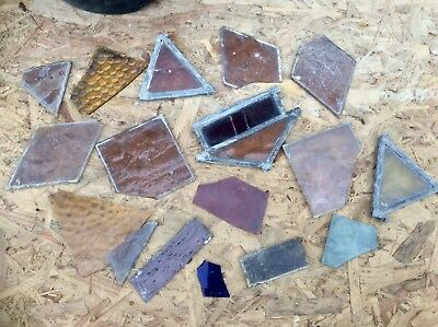 Job Lot 7+Kg Reclaimed Victorian Church Stained Glass FRAGMENTS,Salvage,UPCYCLE