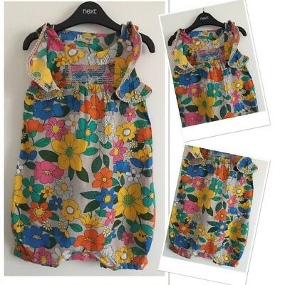 Next Girls Summer Brights Shorts Play suit 2-3 Years