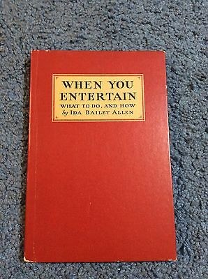 Vintage 1932 Book By Coca-Cola When You Entertain Ida Allen