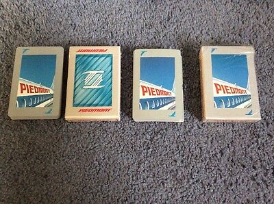 Lot Of 2 Vintage Decks Piedmont Airlines Playing Cards By Stardust In Original B