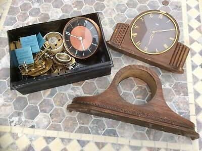 Lot Antique Vintage Clock Parts For Restoration,Brass Movements,Springs,Smiths..