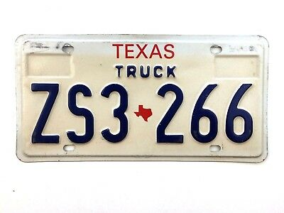 Texas 1991 Base Truck Old License Plate Garage Vtg Man Cave State Map Auto Decor