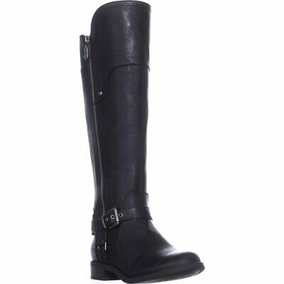 b8552ce2804 G BY GUESS Womens Harson Faux Leather Riding Over-The-Knee Boots ...