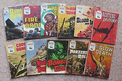 Vintage Battle Picture Library Comics. 11 titles in very good condition.