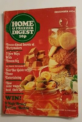 Home & Freezer Digest Magazine - December 1974 - Christmas Entertaining