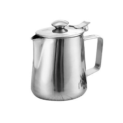 Milk Pitcher with Lid Stainless Steel Barista Coffee Art Frother 1000ml